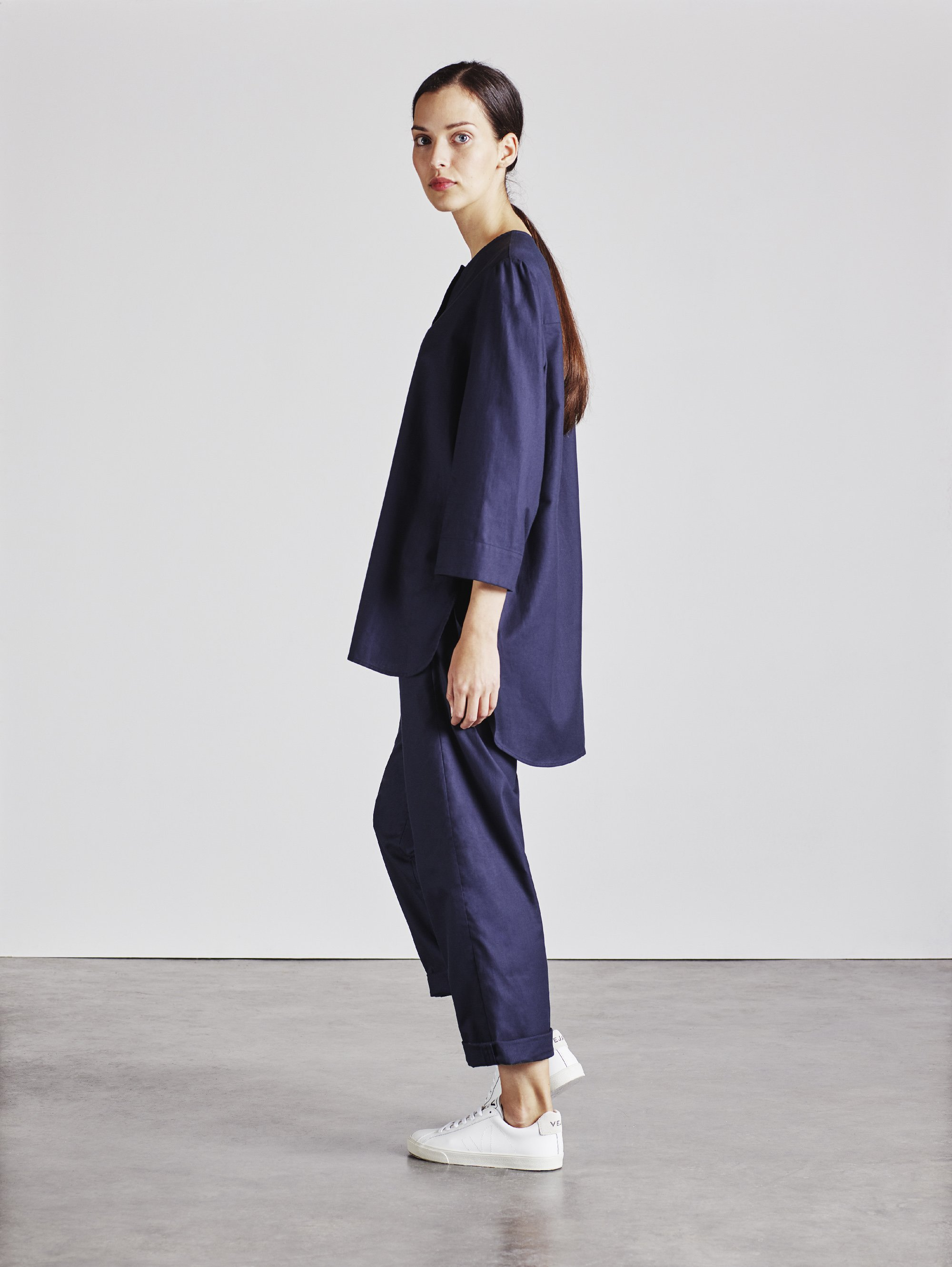 Soft organic twill Bethan Shirt by Alice Early