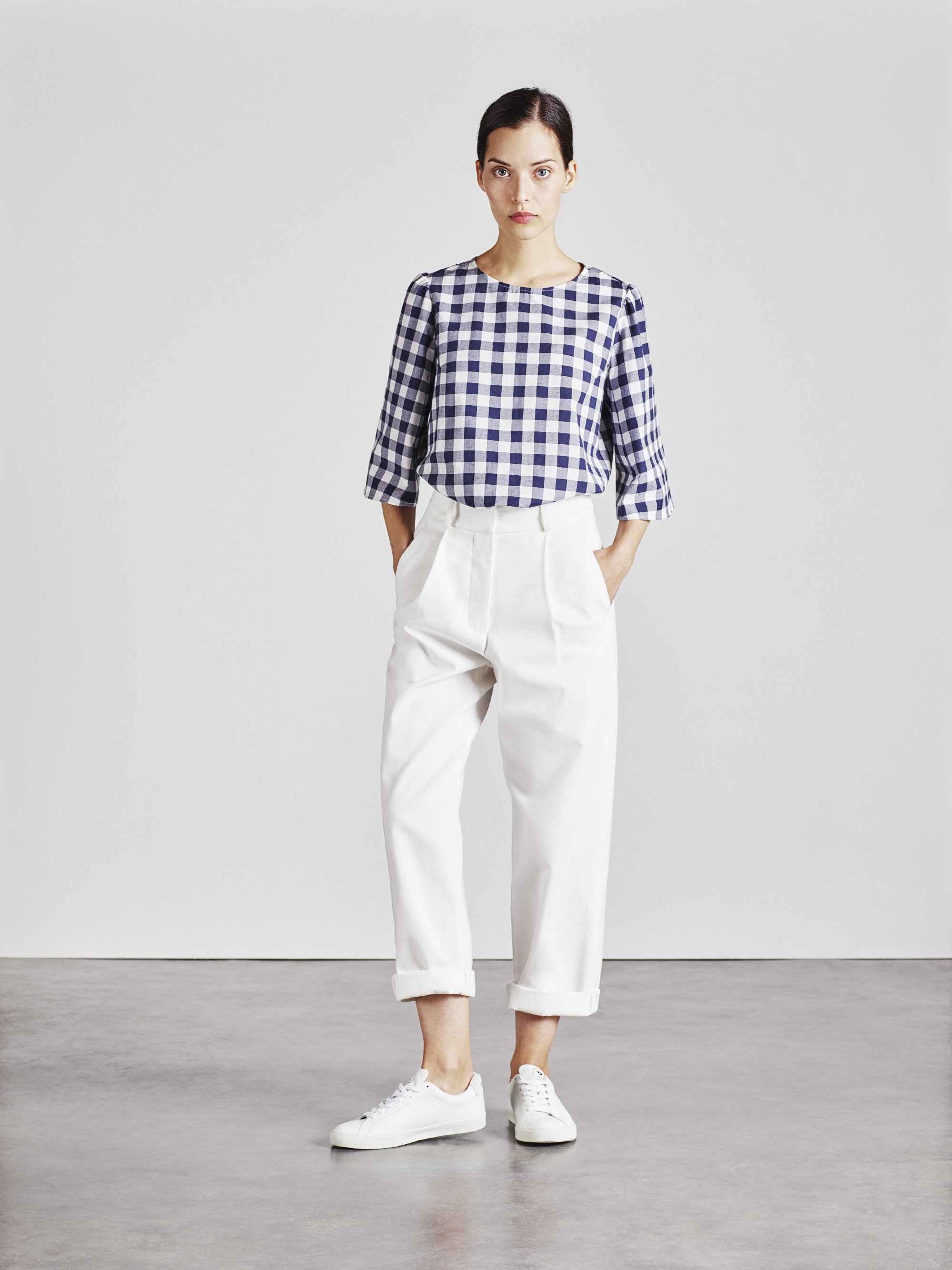 High Wasted organic cotton ford trousers