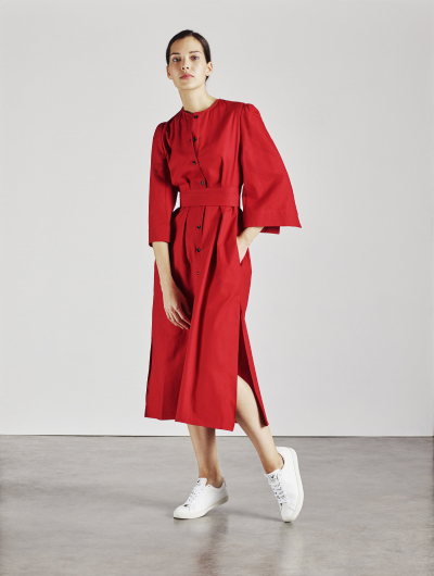 Alice Early Raminta shirt dress in red Red