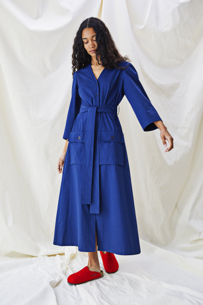 Alice Early Sienna Dress in Sapphire Blue